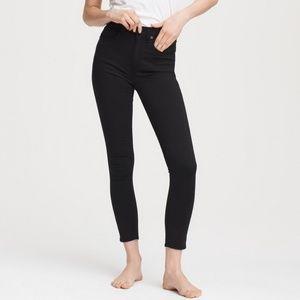 NWT Rag & Bone High Rise Ankle Skinny black pants